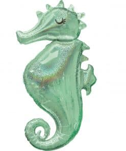 Mermaid Wishes Seahorse SuperShape Foil Balloon