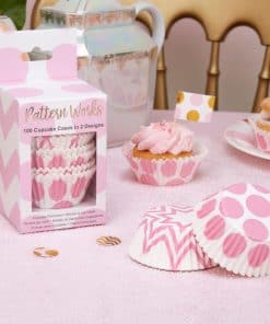 Pattern Works Pink Cupcake Cases