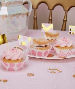 Pattern Works Pink & Gold Cupcake Picks