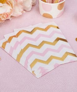 Pattern Works Pink & Gold Chevron Sweet Bags