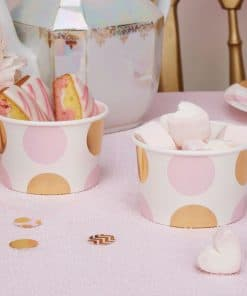 Pattern Works Pink & Gold Polka Dots Treat Tubs