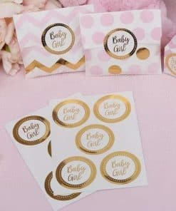 Pattern Works Gold 'Baby Girl' Stickers 1
