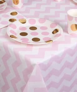 Pattern Works Pink Chevron Paper Tablecover