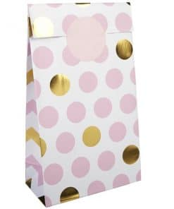 Pattern Works Pink & Gold Polka Dot Party Bags