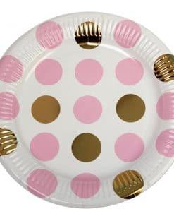 Pattern Works Pink & Polka Dot Plates