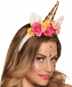 Rose Unicorn Headband