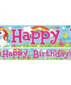 Unicorn Birthday Paper Banners