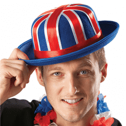 VE Day 75 Years Ban Holiday Weekend Strwwt Party Decorations, Bunting & Hats Next Day Delivery