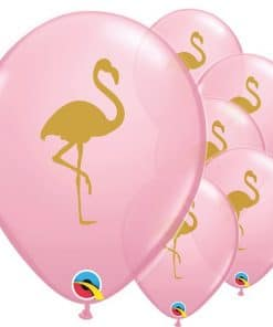 Pink Flamingo Printed Latex Balloons