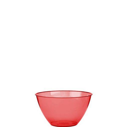 Red Plastic Serving Bowl