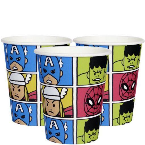 Avengers Pop Comic Paper Cups