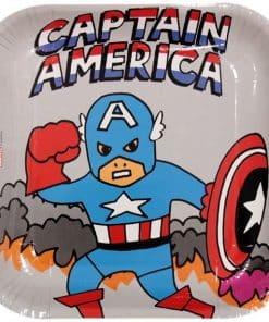 Avengers Pop Comic Square Plates