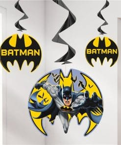 Batman Party Hanging Swirl Decorations