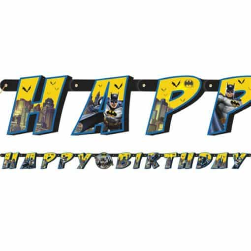 Batman Party Happy Birthday Letter Banner