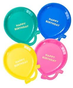 Birthday Brights Balloon Shaped Plates