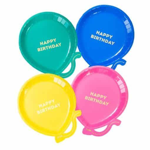 Birthday Brights Balloon Shaped Plates