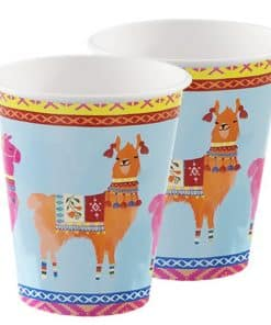 Boho Llama Party Large Paper Cups