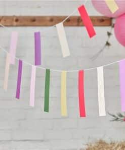 Boho Mini Colourful Card Bunting