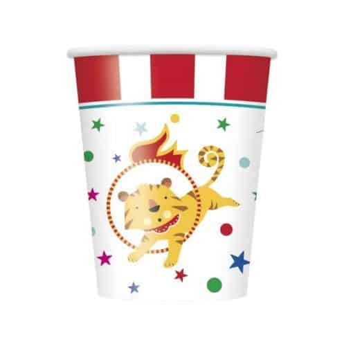 Circus Carnival Party Paper Cups