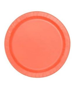 Coral Party Paper Plates