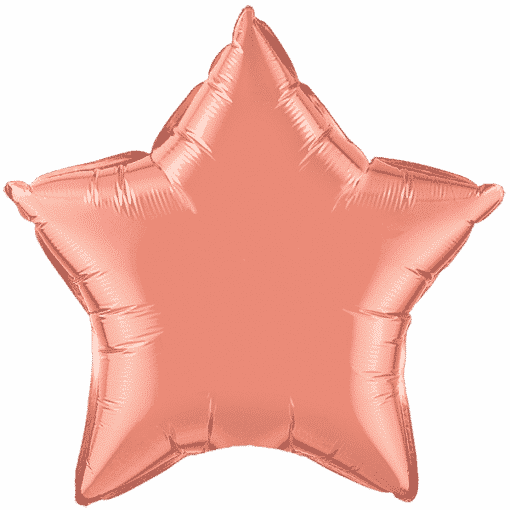 Coral Party Star Foil Balloon