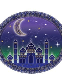 Eid Oval Paper Plates