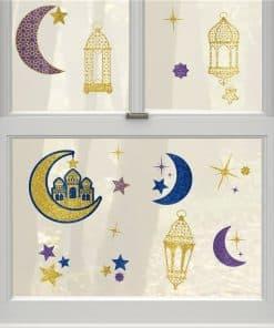 Eid Window Stick on Decorations