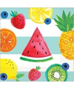 Fruit Salad Paper Beverage Napkins