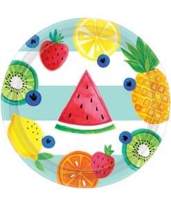 Fruit Salad Paper Dessert Plates