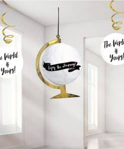 Graduation Globe & Swirls Hanging Decoration