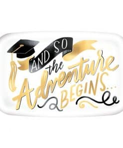 Graduation Rectangle Plastic Serving Platter