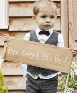 Here Come The Bride Rustic Sign