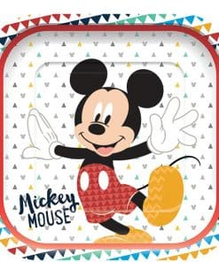 Mickey Awesome Party Paper Square Plates
