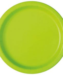 Neon Green Party Paper Plates