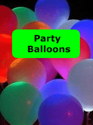 Neon Party Balloons Banner