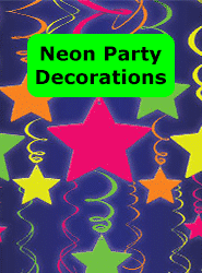 Neon Party Decorations Banner