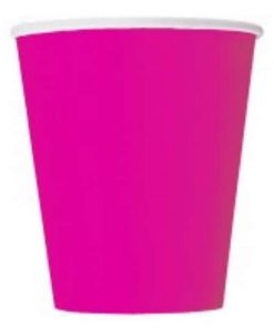 Neon Pink Party Paper Cups