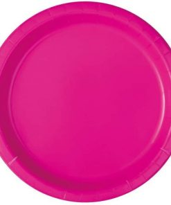 Neon Pink Party Paper Plates