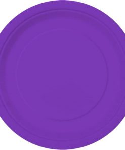 Neon Purple Party Paper Plates