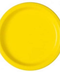 Neon Yellow Party Paper Plates