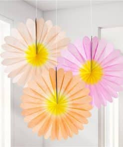 Ombre Flower Fan Decorations