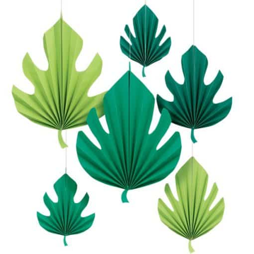 Palm Leaf Paper Fan Decorations