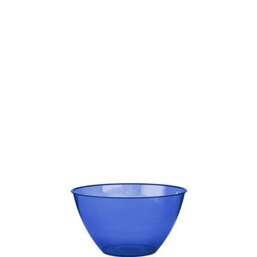 Royal Blue Plastic Serving Bowl