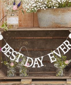 Rustic Country 'Best Day Ever' Wooden Bunting