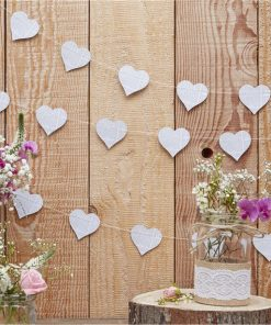 Rustic Country Heart Newspaper Garland