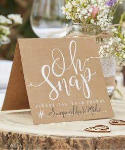 Rustic Country Wedding Oh Snap! Instagram Signs
