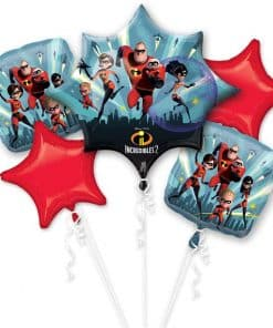Incredibles 2 Party Balloon Bouquet