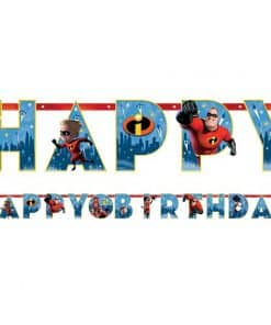 Incredibles 2 Party Happy Birthday Banner