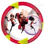The Incredibles Party Plates