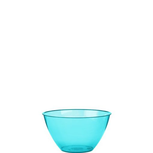 Turquoise Plastic Serving Bowl